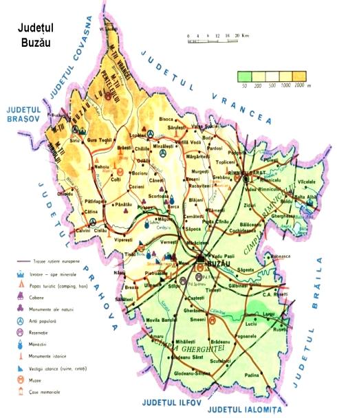 Harta Buzaului Comuna Breaza
